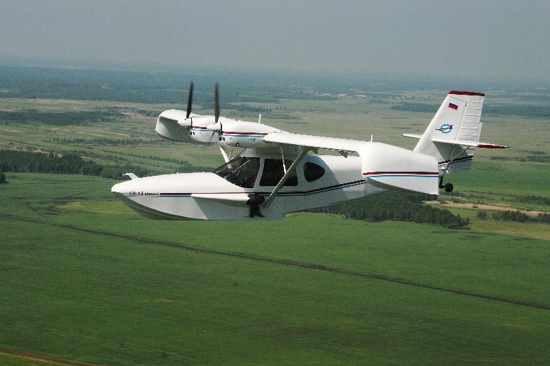 В самолете-амфибии СК-12 «
